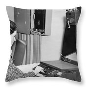 Copying Archival Documents Throw Pillow
