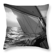 Coquette Sailing Throw Pillow