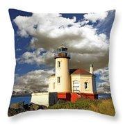 Coquile Light, Oregon Throw Pillow