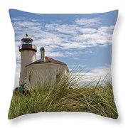 Coquille Lighthouse H Throw Pillow