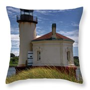 Coquille Lighthouse V Throw Pillow