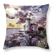 Coquille River Lighthouse 2 Throw Pillow