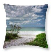 Coquina Beach-bradenton Florida Throw Pillow