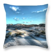 Coquina Beach, Cape Hatteras, North Carolina Throw Pillow