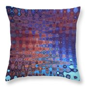 Coral Abstract Throw Pillow