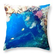 Coral Archways Throw Pillow