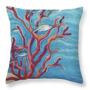 Coral Assets Throw Pillow