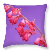Coral Bells Throw Pillow