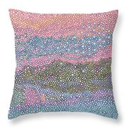 Coral Blues  Throw Pillow