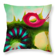 Coral Cavern 1.1 Throw Pillow