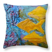 Coral Chorale Throw Pillow