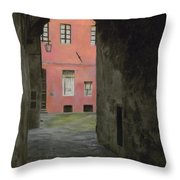 Coral Corridor Siena Italy Throw Pillow
