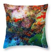 Coral Eel Throw Pillow