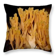 Coral Fungi In The Forest Throw Pillow