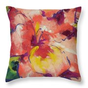 Coral Glad Throw Pillow