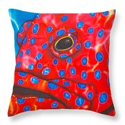 Coral Groupper II Throw Pillow by Daniel Jean-Baptiste