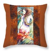 Coral Mermaid Throw Pillow