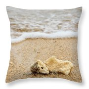 Coral On The Beach Throw Pillow