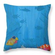 Coral Paradise Throw Pillow