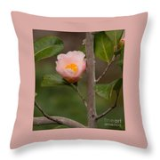 Coral Camellia 1 Throw Pillow