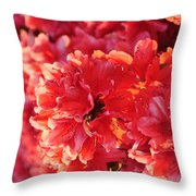 Coral Pink Azaleas Throw Pillow