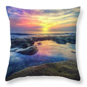 Coral Pools Throw Pillow