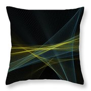 Coral Reef Computer Graphic Line Pattern Throw Pillow