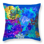Coral Reef Fantasy Throw Pillow