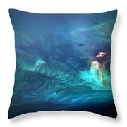 Coral Reef From 28000 Feet Throw Pillow