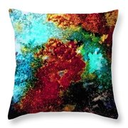 Coral Reef Impression 15 Throw Pillow