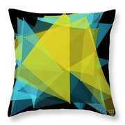 Coral Reef Polygon Pattern Throw Pillow