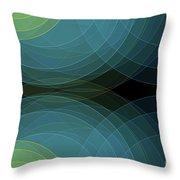 Coral Reef Semi Circle Background Horizontal Throw Pillow