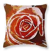 Coral Rose In The Mix Throw Pillow