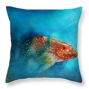 Coral Trout Throw Pillow