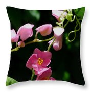 Coral Vine Flower Throw Pillow