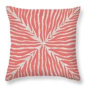 Coral Zebra 2 Throw Pillow