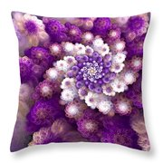 Coraled Blooms Throw Pillow