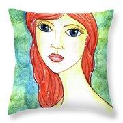 Coralia, The Mermaid Throw Pillow