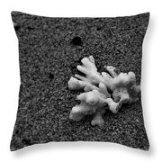 Corals On The Sand Throw Pillow