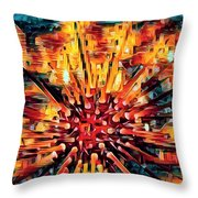 Corals Under The Sea Abstract Color Art Throw Pillow