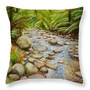 Coranderrk Creek Yarra Ranges Throw Pillow