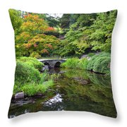Corbel Arch Bridge Japanese Garden Maymont I Throw Pillow