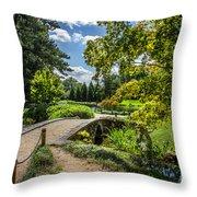 Corbel Arch Bridge Japanese Garden Maymont Throw Pillow