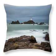 Corbiere Lighthouse Throw Pillow by James Billings