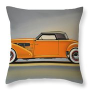 Cord 810 1937 Painting Throw Pillow