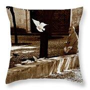 Cordoba Flight Throw Pillow by Lorraine Devon Wilke