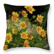 Coreopsis Tickseed Throw Pillow