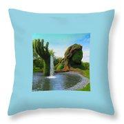 Corey Rockafeler - Mother Nature Fountain Throw Pillow