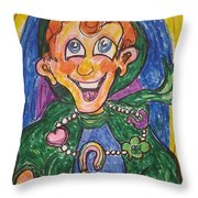 Corey The Lepperchaun Lucky Charms Throw Pillow