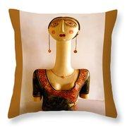 Corfu Lady Throw Pillow